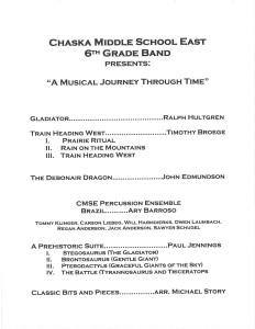 TAOP - Chaska Middle School East 6th