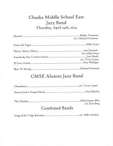 TAOP - Chaska Middle School East Jazz Band 1