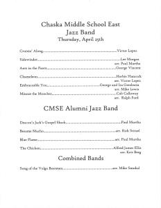 TAOP - Chaska Middle School East Jazz Band 2