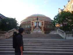 Royal Albert Hall: A truly beautiful building, especially with the piercing afternoon sun at sunset.