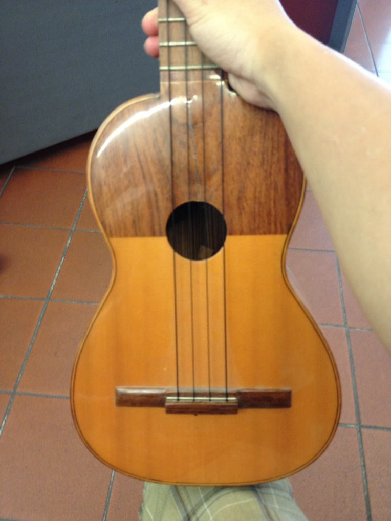 """""""Chitarrina"""" Found at a small local shop in Florence. Cedar/Mahogany Top"""